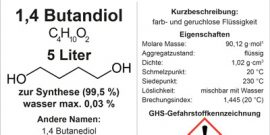 1,4 Butandiol 5 Liter Brust gross german